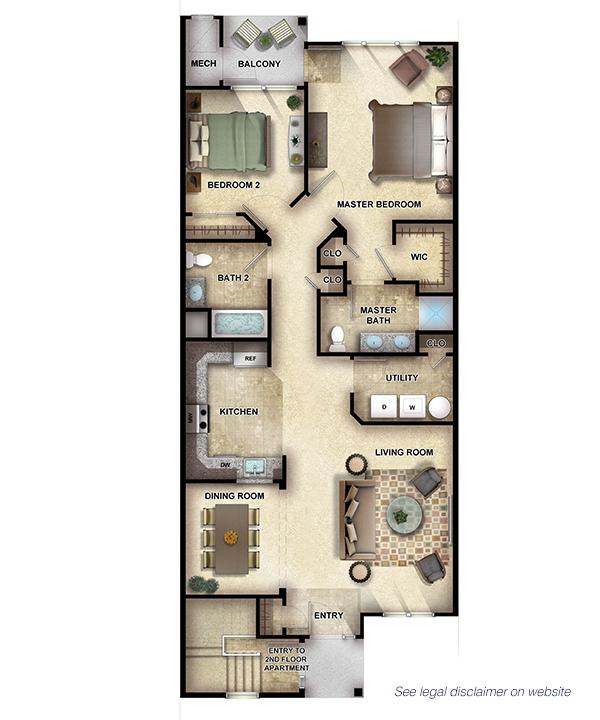 Cypress I - 2 Bedrooms