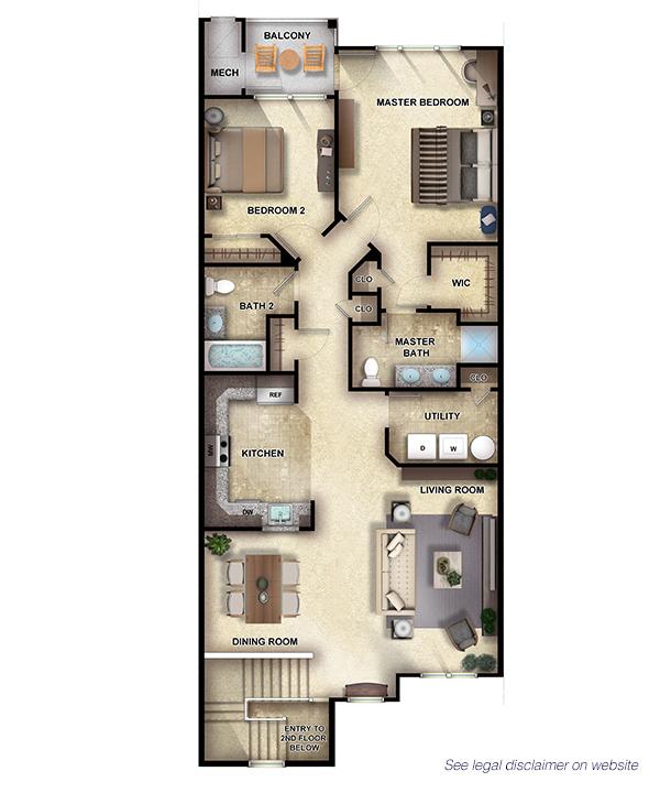 Cypress II - 2 Bedrooms