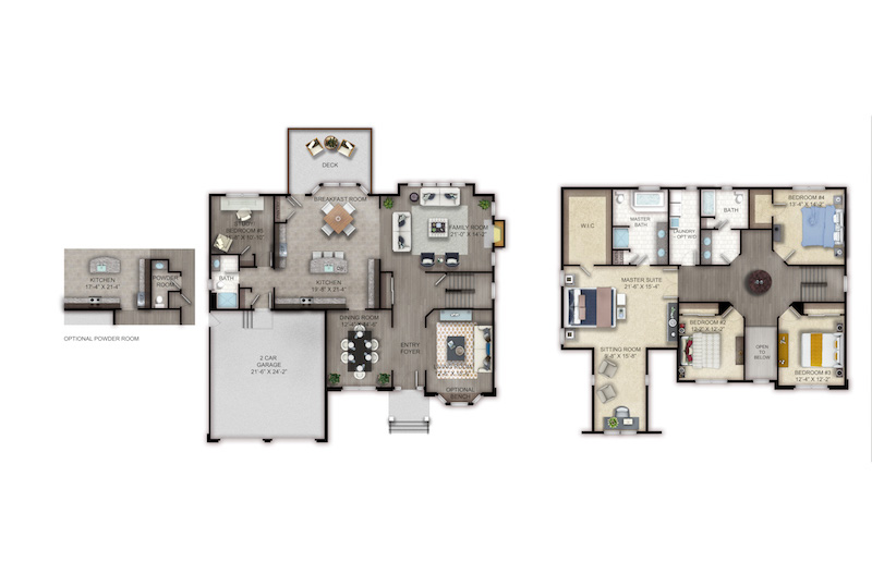 Matisse floor plan at Old Bridge NJ home for sale