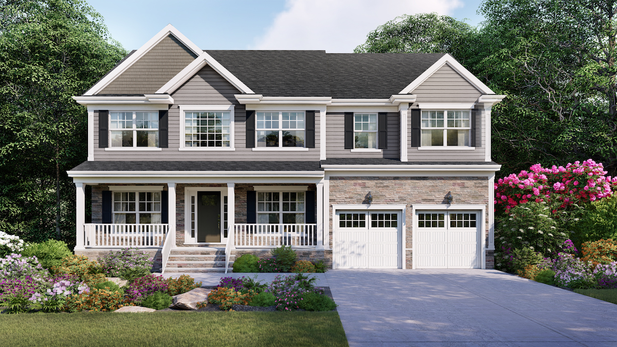Exterior of home at the Reserve at Woodhaven in NJ