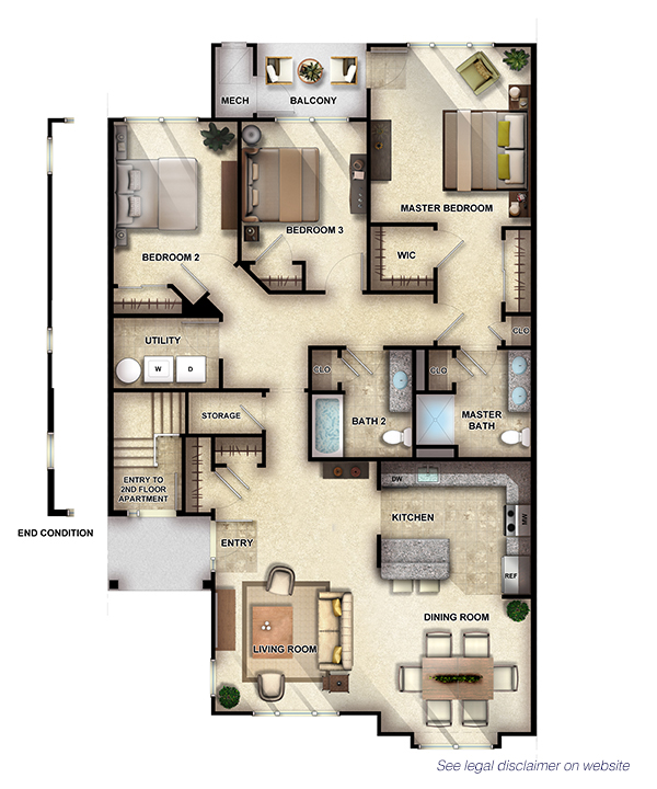 Sycamore I - 3 Bedrooms