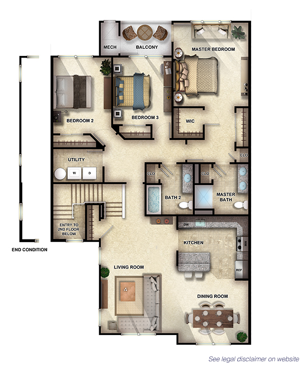 Sycamore II - 3 Bedrooms