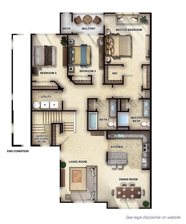 Sycamore II - 3 Bedrooms