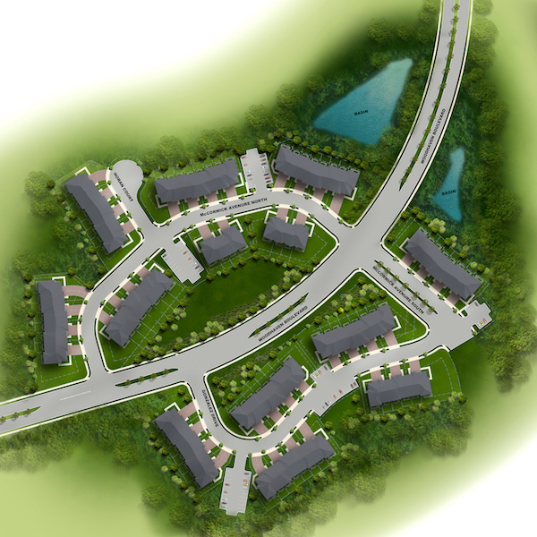 Site plan for Woodhaven Commons in Old Bridge